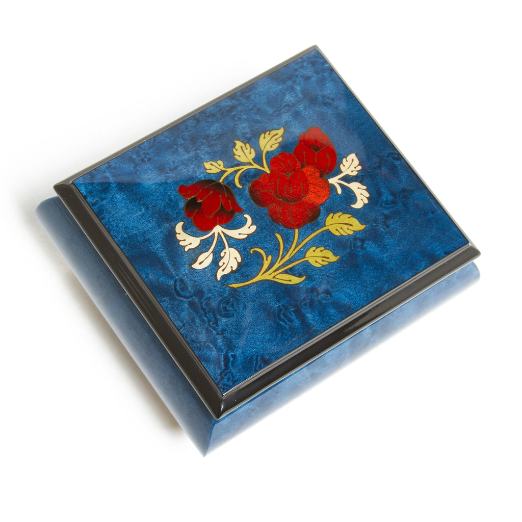 Italian Music Box - Rose Blue