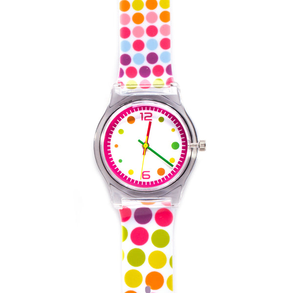 White Polka Dot Vinyl Watch