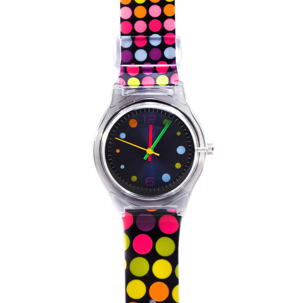 Black Polka Dot Vinyl Watch