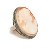 Hand Carved Cameo Ring - Diana