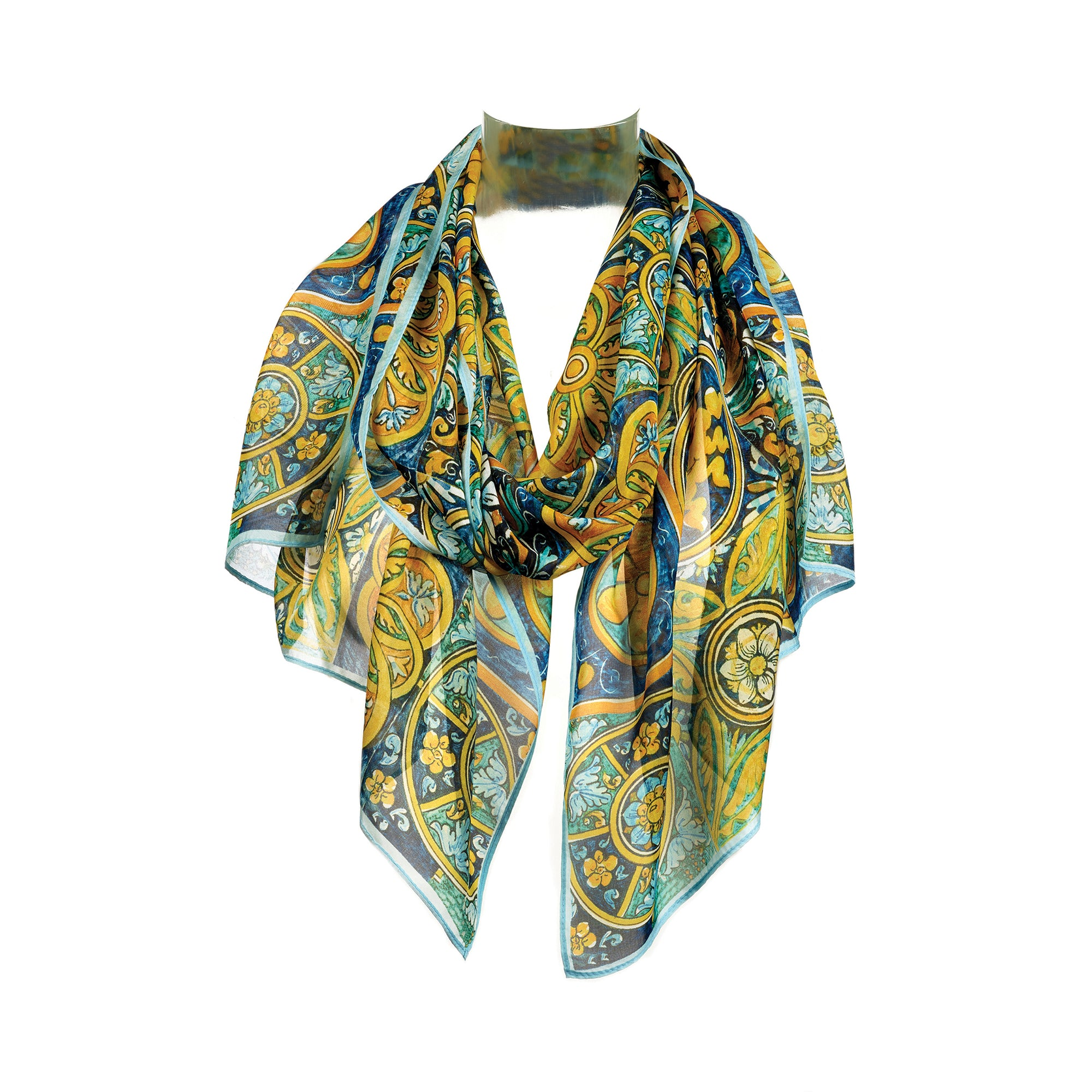 Italian Tiles Silk Scarf | Getty Store