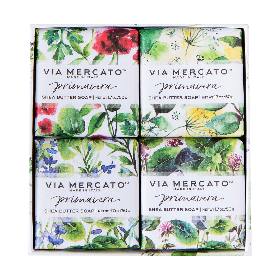 Via Mercato Primavera Soap Set - Fresh Herbs