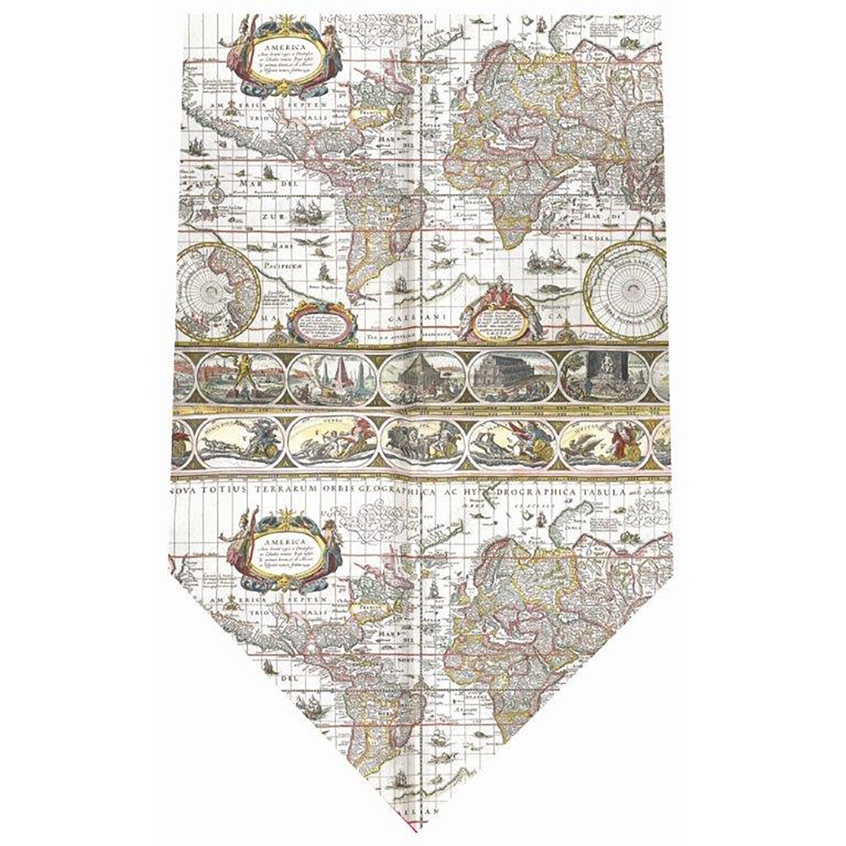 Silk Tie -Mappa Mundi | Getty Store