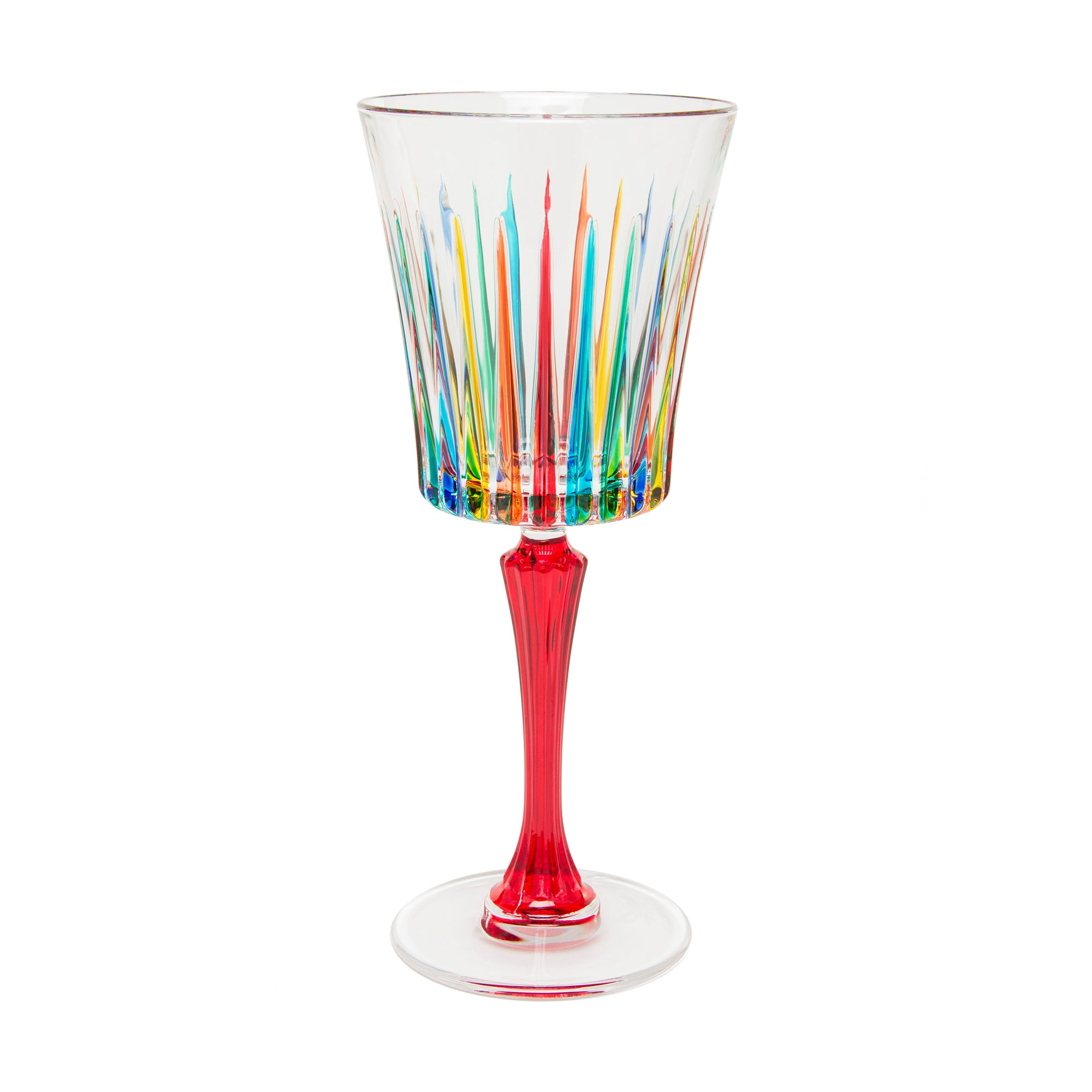 Murano Glass Wine Goblet- Blue Stem shown | Getty Store