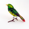 Art Glass Bird - Green Finch