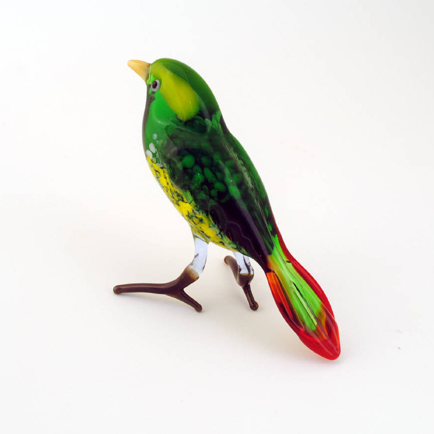 Art Glass Bird- Green Finch | Getty Store