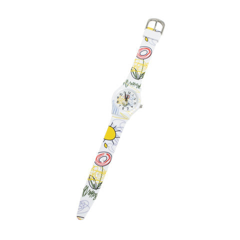Children's Vinyl Watch - Flower Drawings