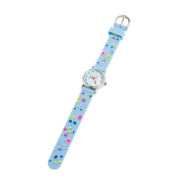 Children's Silicone Watch - Blue Dragonflies