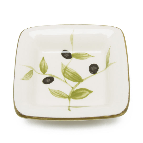 Ceramic Olive Condiment Bowl