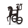 "Ancient Greek Chariot of Athena (4"" H) - Cast Brass Reproduction"