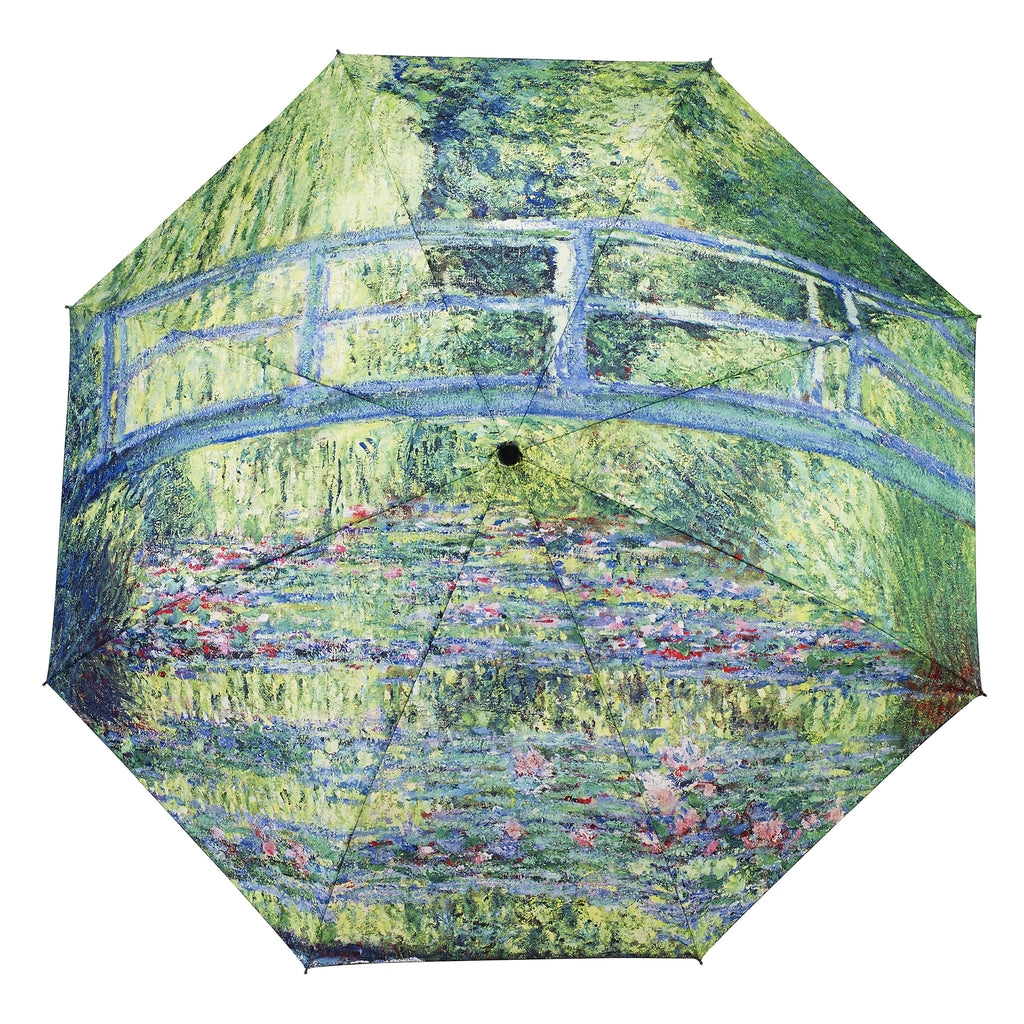 Monet's Japanese Footbridge Folding Umbrella