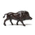 Wild Boar Sculpture - Cast Brass Reproduction- side view | Getty Store