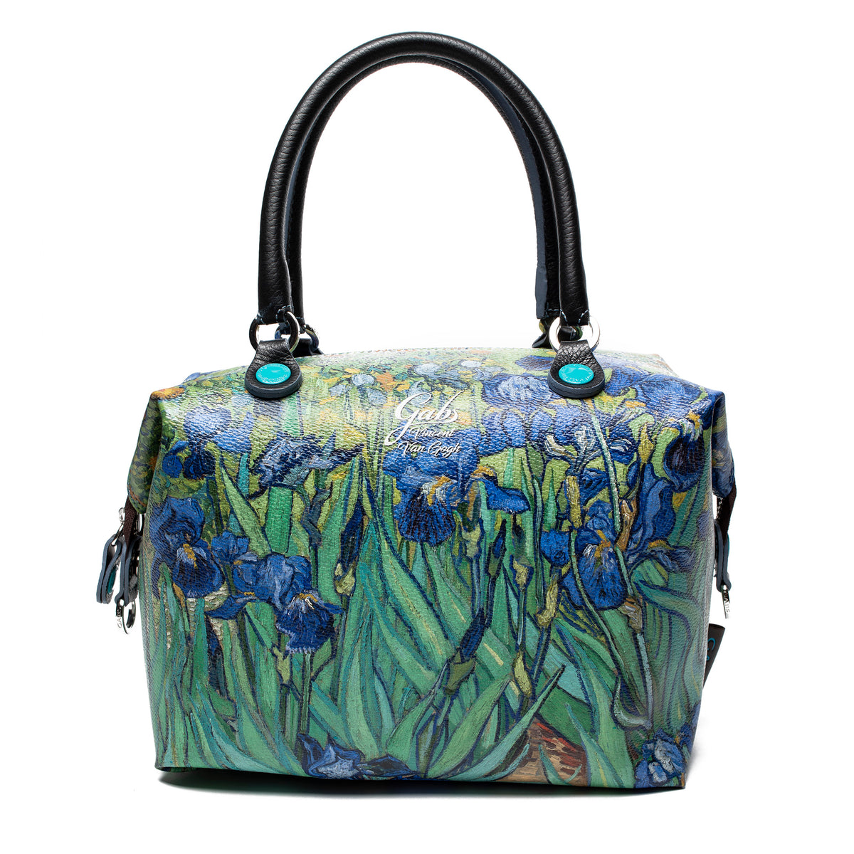 Small Convertible Hand Bag featuring Van Gogh's <i>Irises</i> by Gabs Italy
