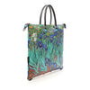 Large Convertible Hand Bag featuring Van Gogh's <i>Irises</i> by Gabs, Italy