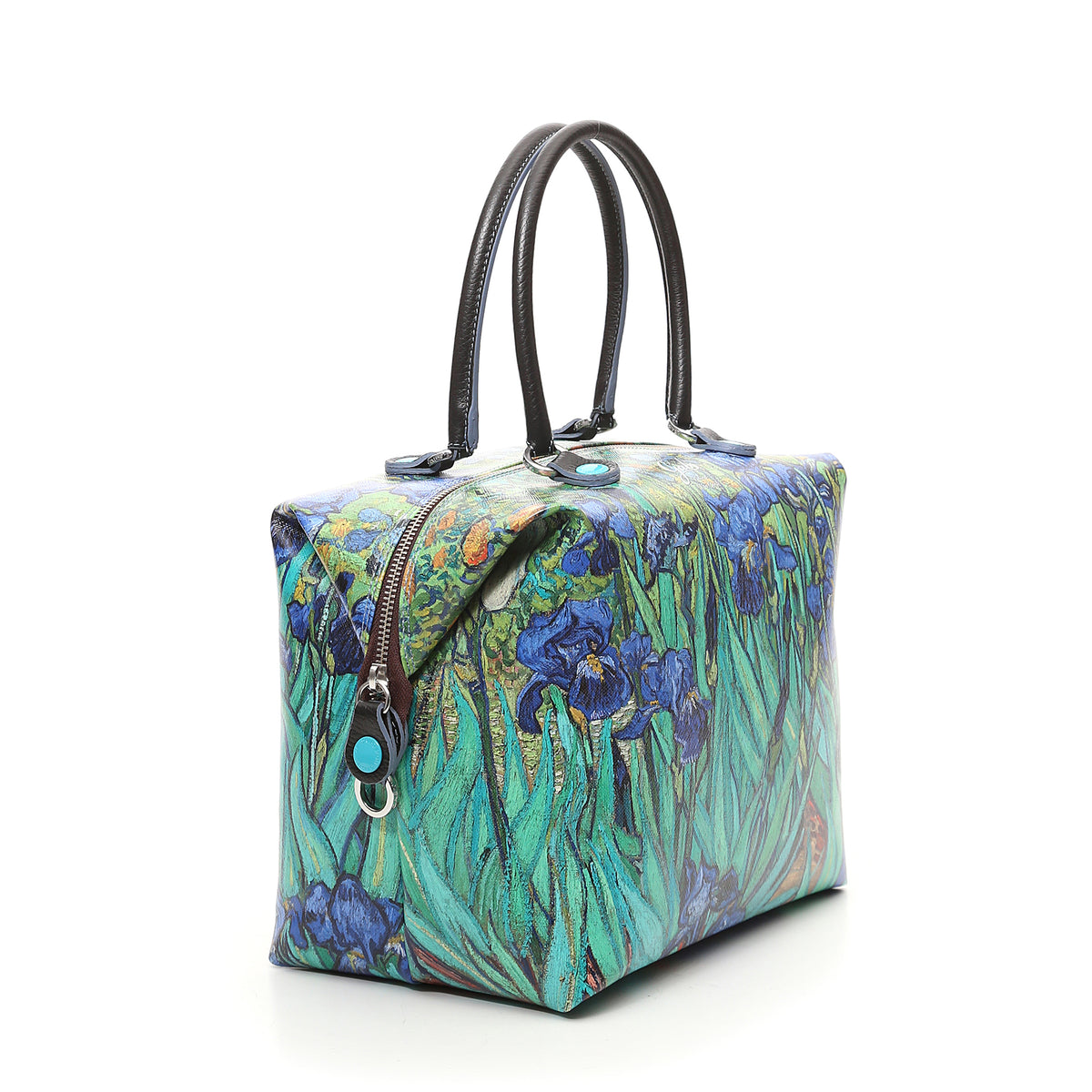 Large Convertible Hand Bag featuring Van Gogh's Irises by Gabs, Italy | Getty Store