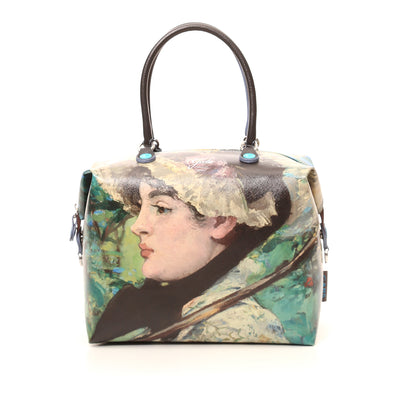 Large Convertible Hand Bag featuring Manet's <i> Jeanne (Spring)</i> by Gabs, Italy