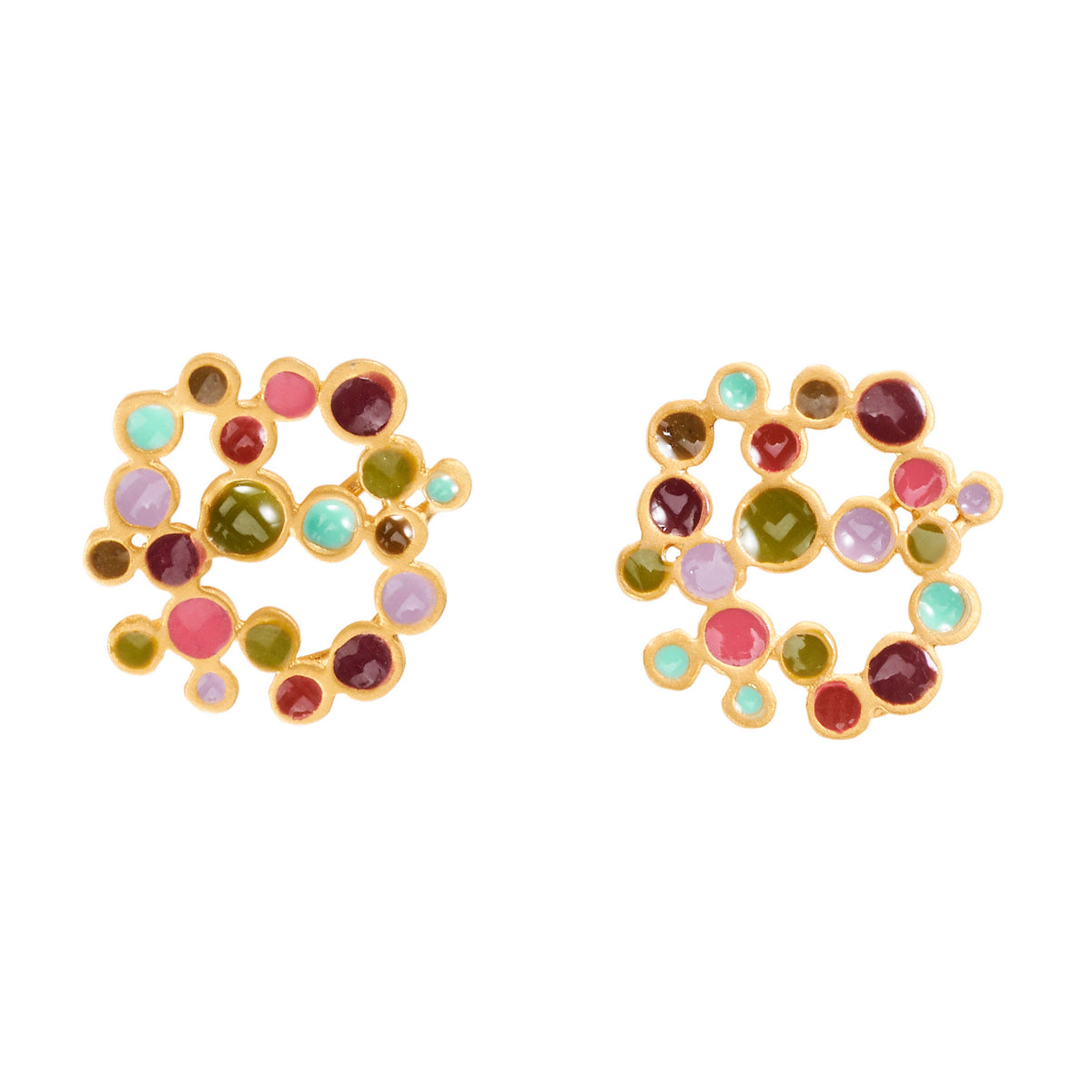 Pointillism Large Stud Earrings