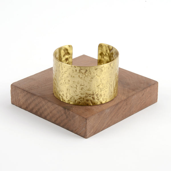 Gold Hammered Metal Cuff