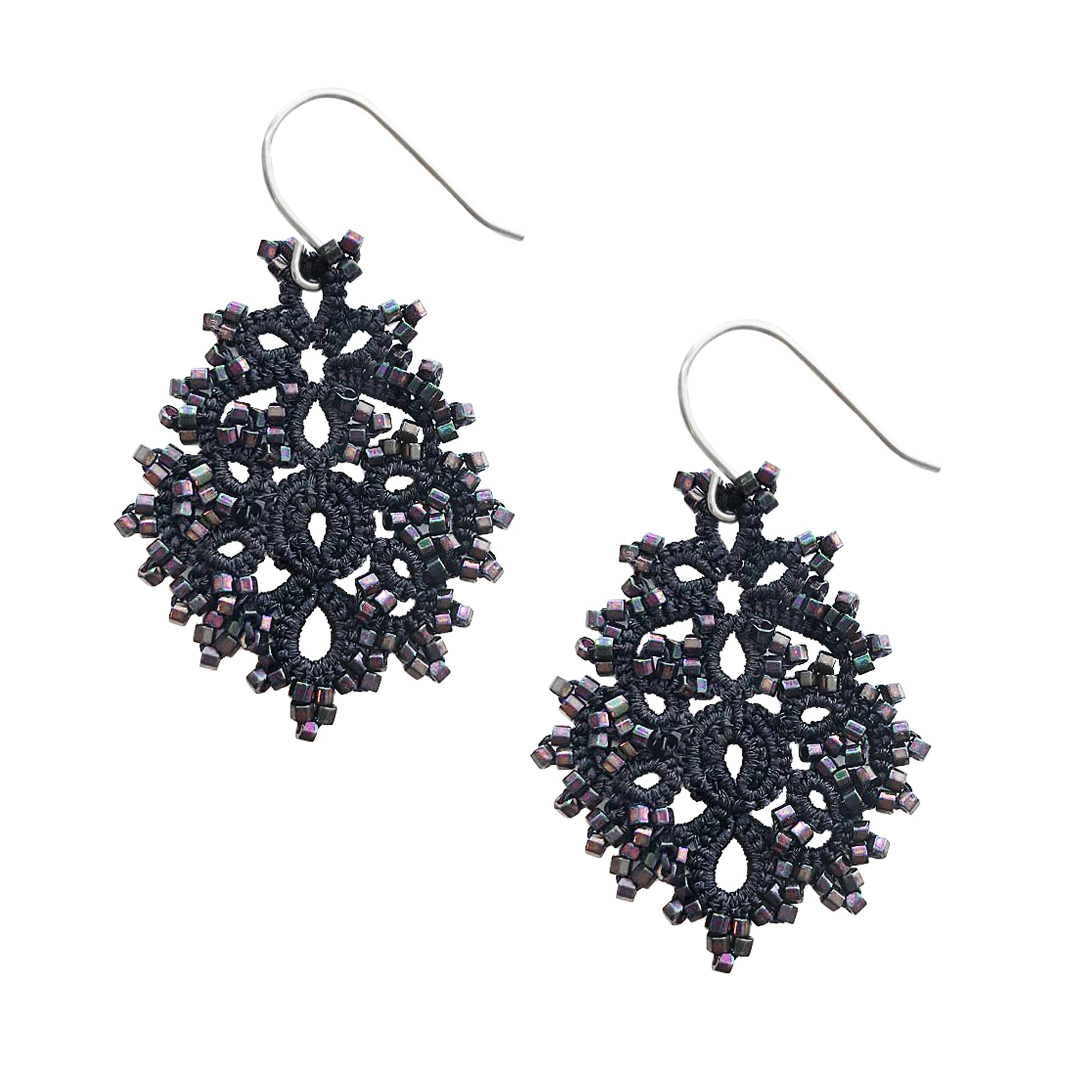 Noir Lace Earrings | Getty Store