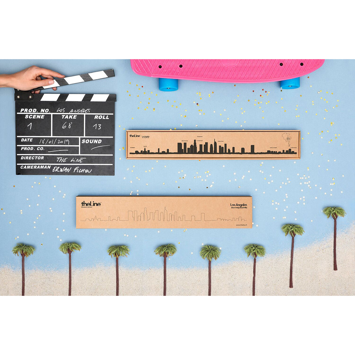 Los Angeles City Skyline Silhouette Wall Decoration