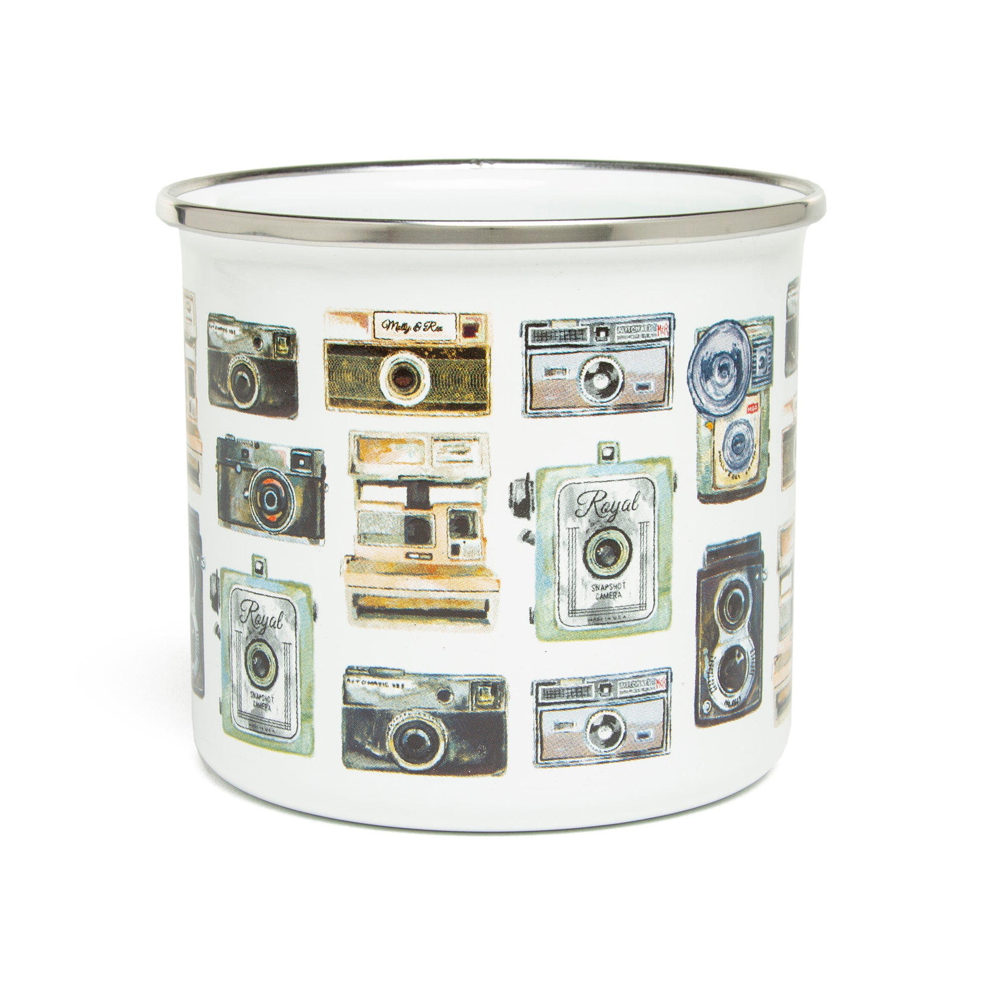 Cameras Enamel Mug | Getty Store
