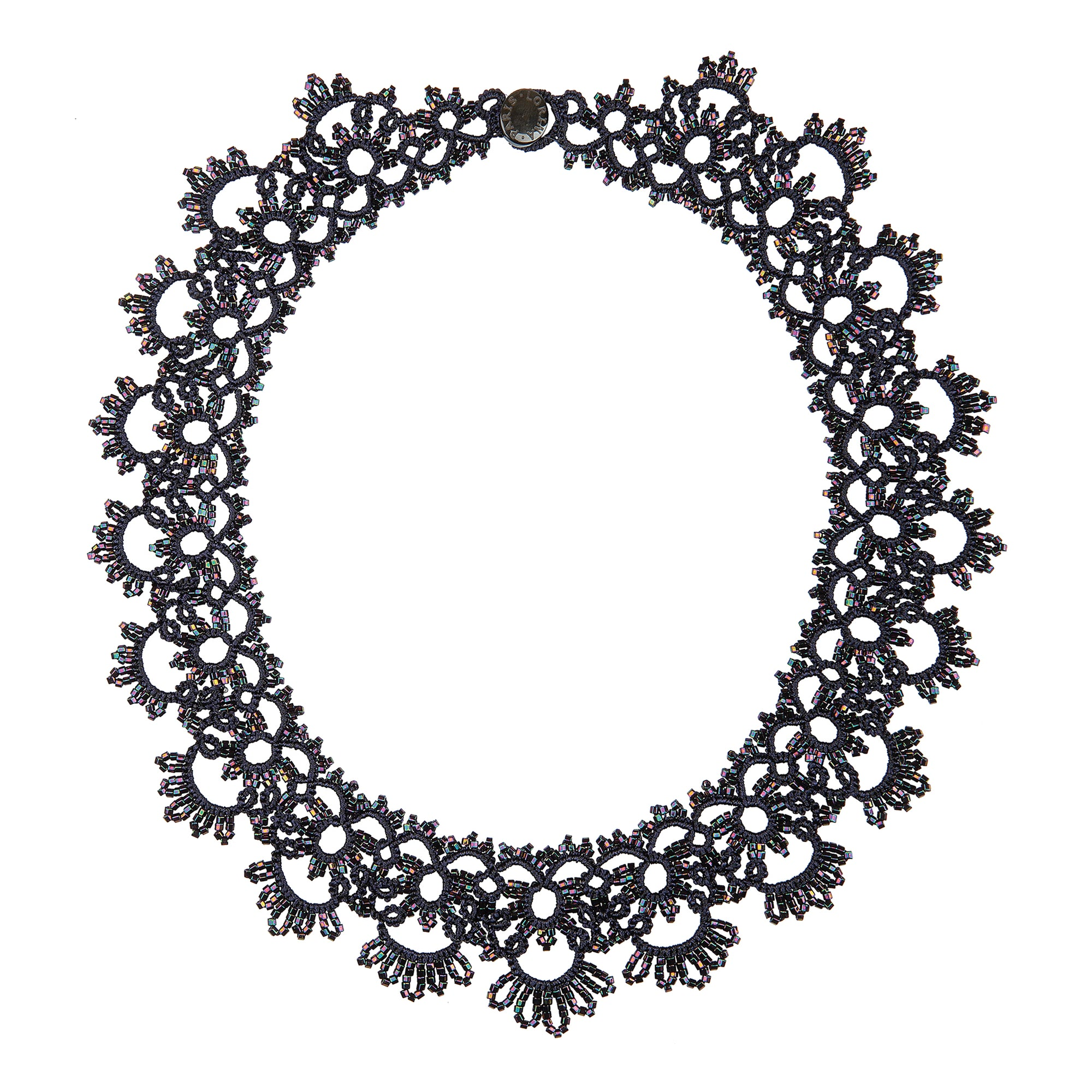 Noir Lace Collar Necklace