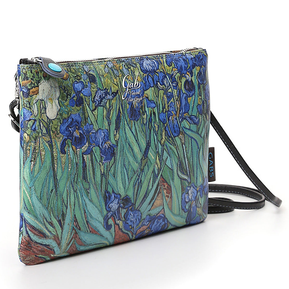 Clutch Bag featuring Van Gogh's Irises, by Gabs, Italy-Front/side View | Getty Store