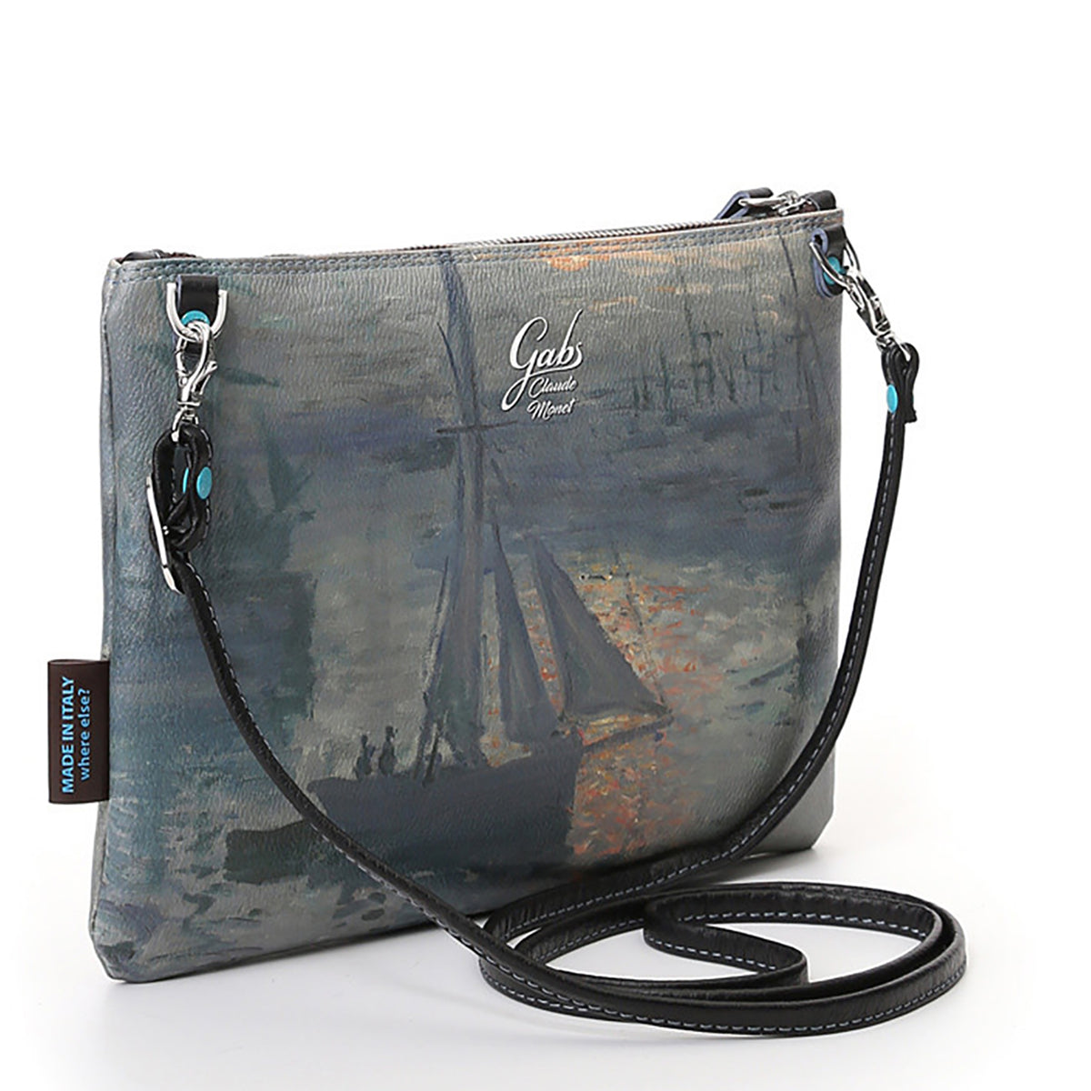 Clutch Bag featuring Monet's, Sunrise, by Gabs, Italy-Front/side View | Getty Store