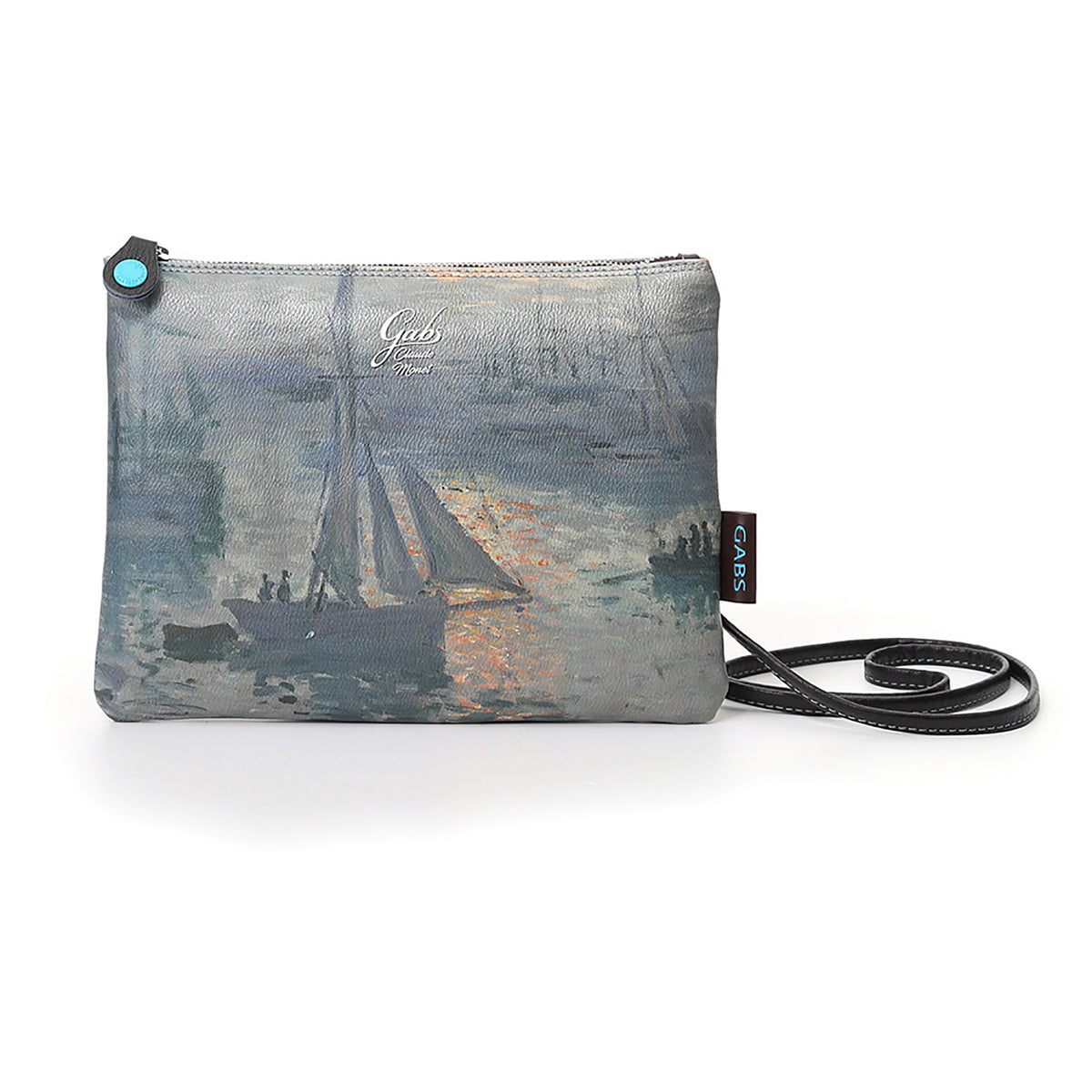 Clutch Bag featuring Monet's, Sunrise, by Gabs, Italy-Front view of bag | Getty Store