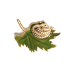 Snail on a Leaf Brooch