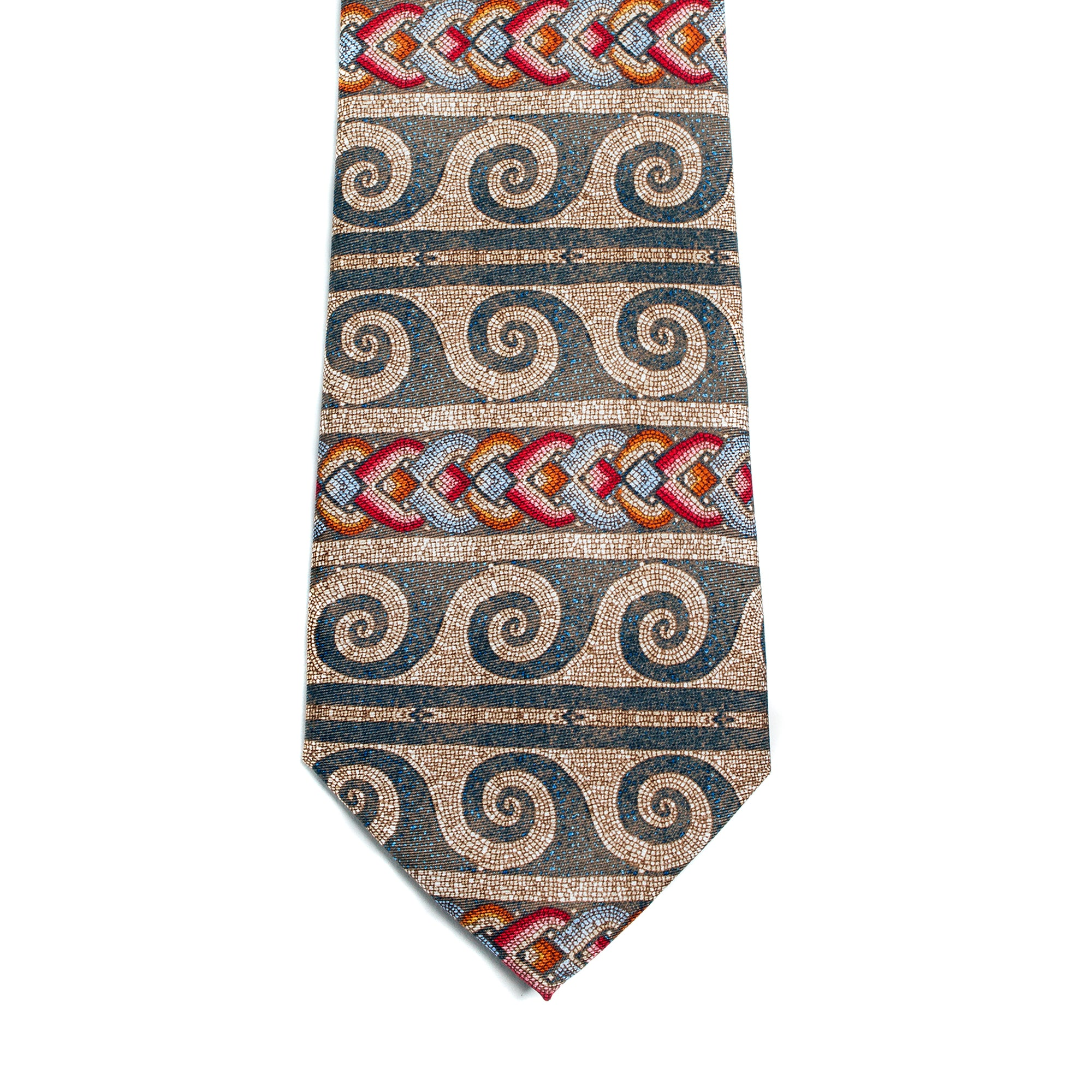 Roman Mosaic Pattern Silk Tie | Getty Store
