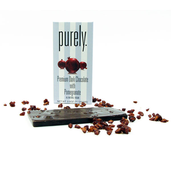 Purely. Premium Dark Chocolate with Pomegranate Bar