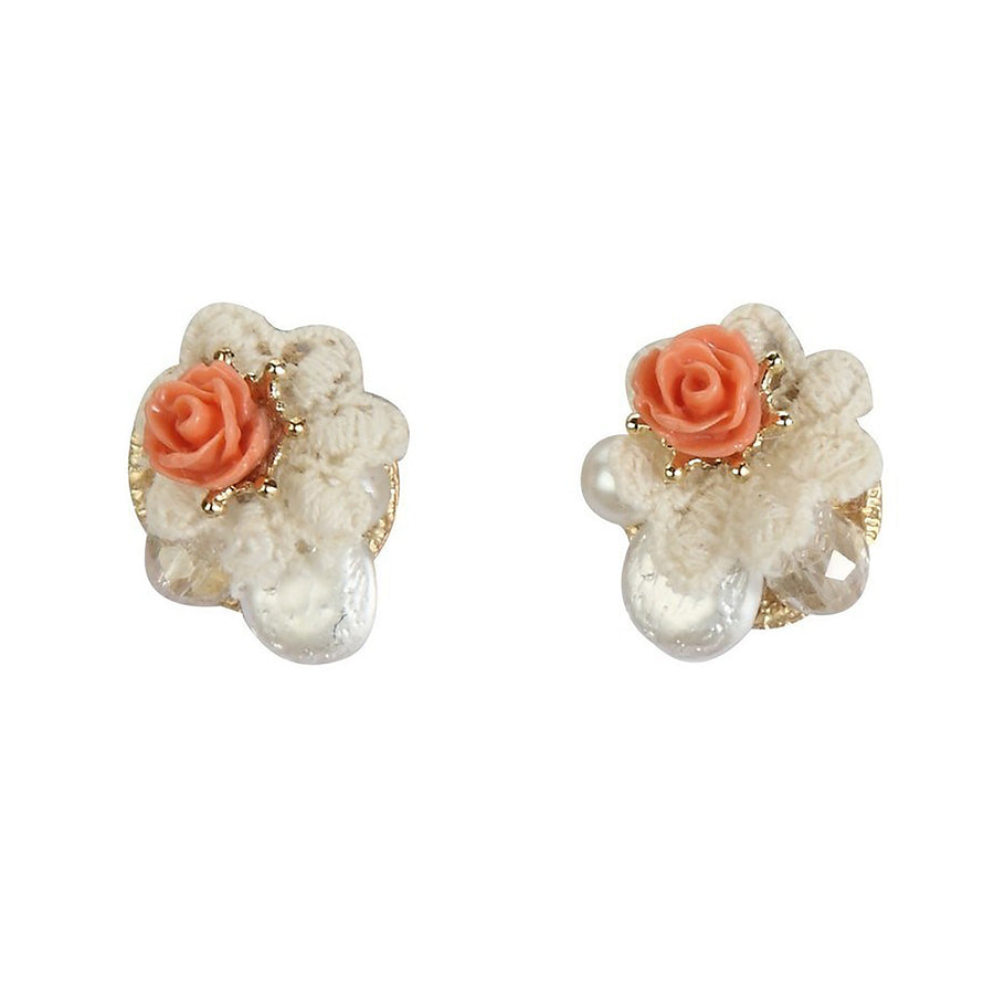 Rose and Lace Earrings