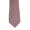 Lotus and Papyrus Pattern Silk Tie
