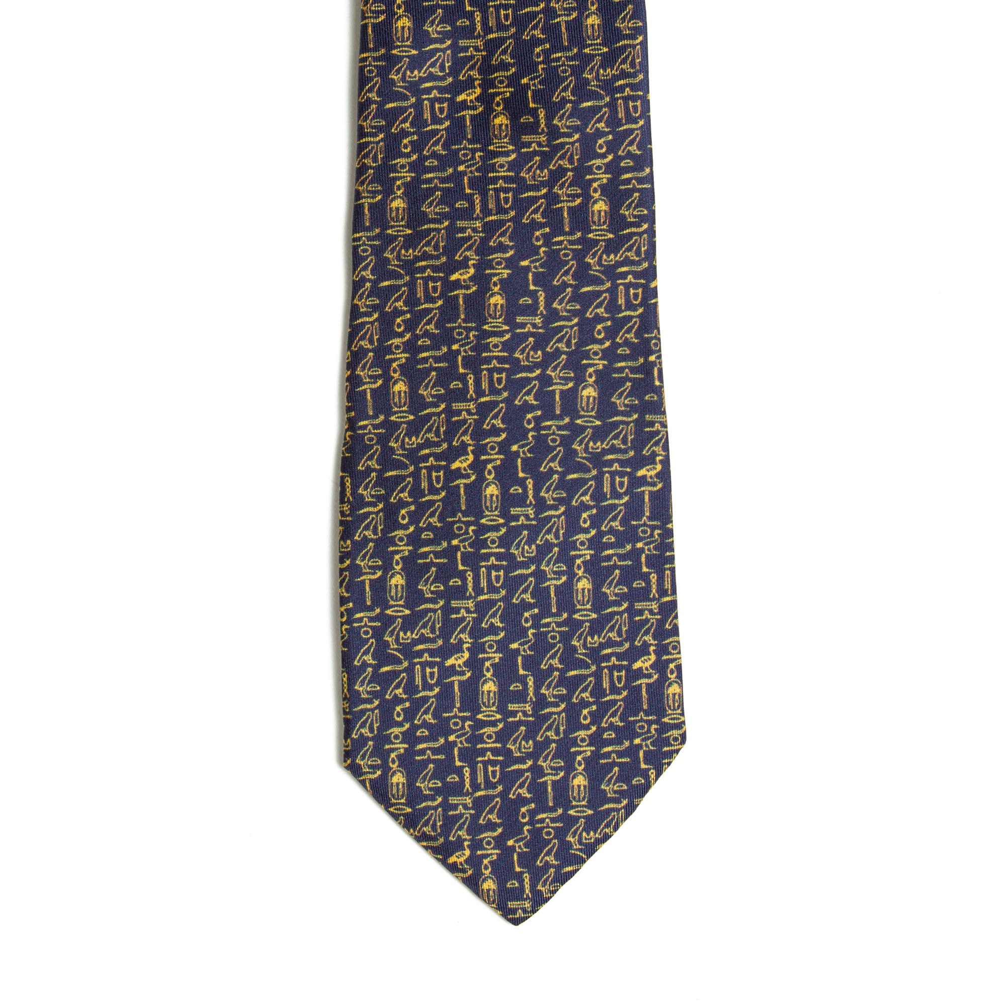 Egyptian Hieroglyphic Pattern Silk Tie | Getty Store