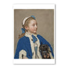 "Liotard-Portrait of Maria Frederike at Age Seven- 5""x7"" Note Card 