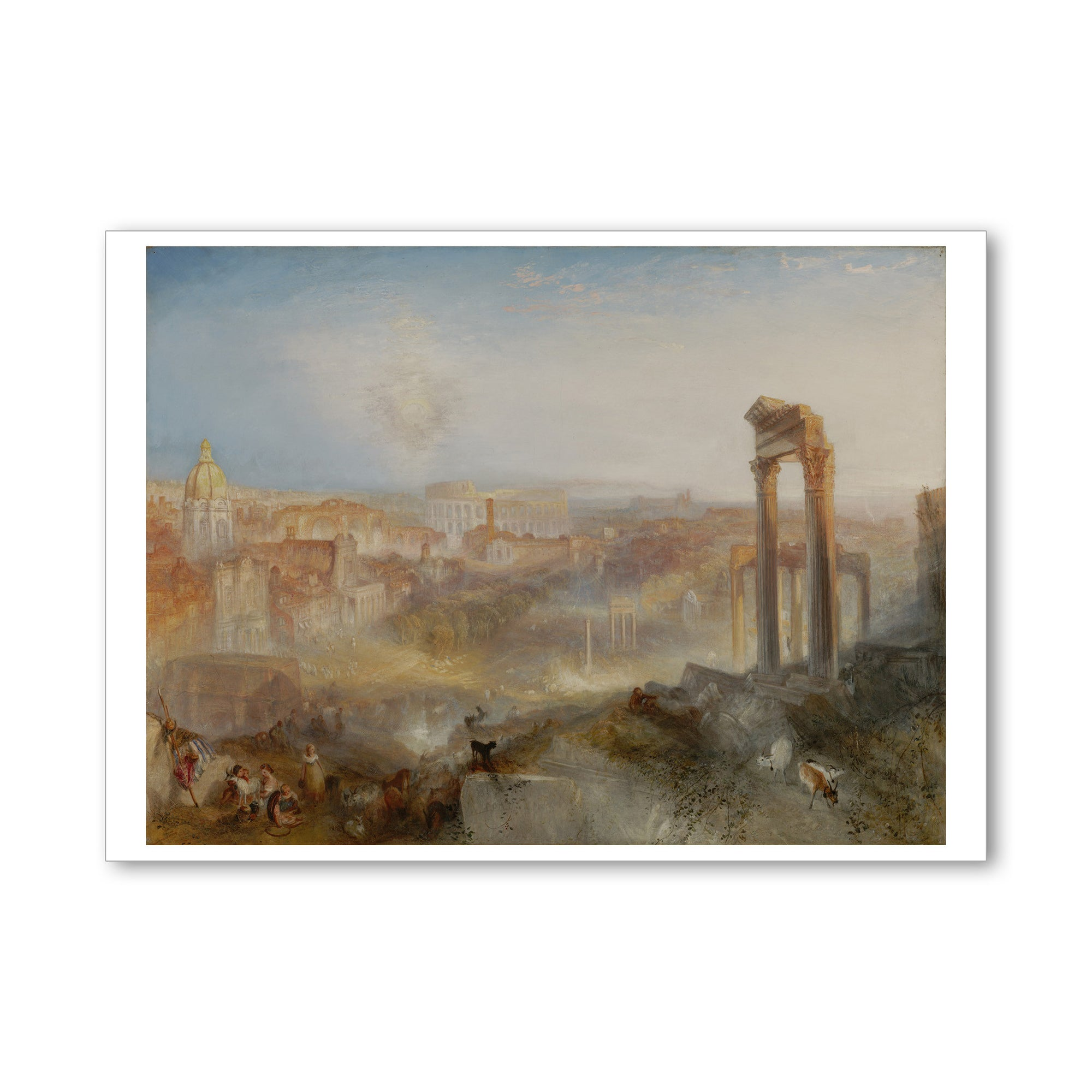 "Turner- Modern Rome- 5""x7"" Note Card 