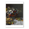 "Monet-Still Life with Flowers and Fruit - 5""x7"" Note Card 