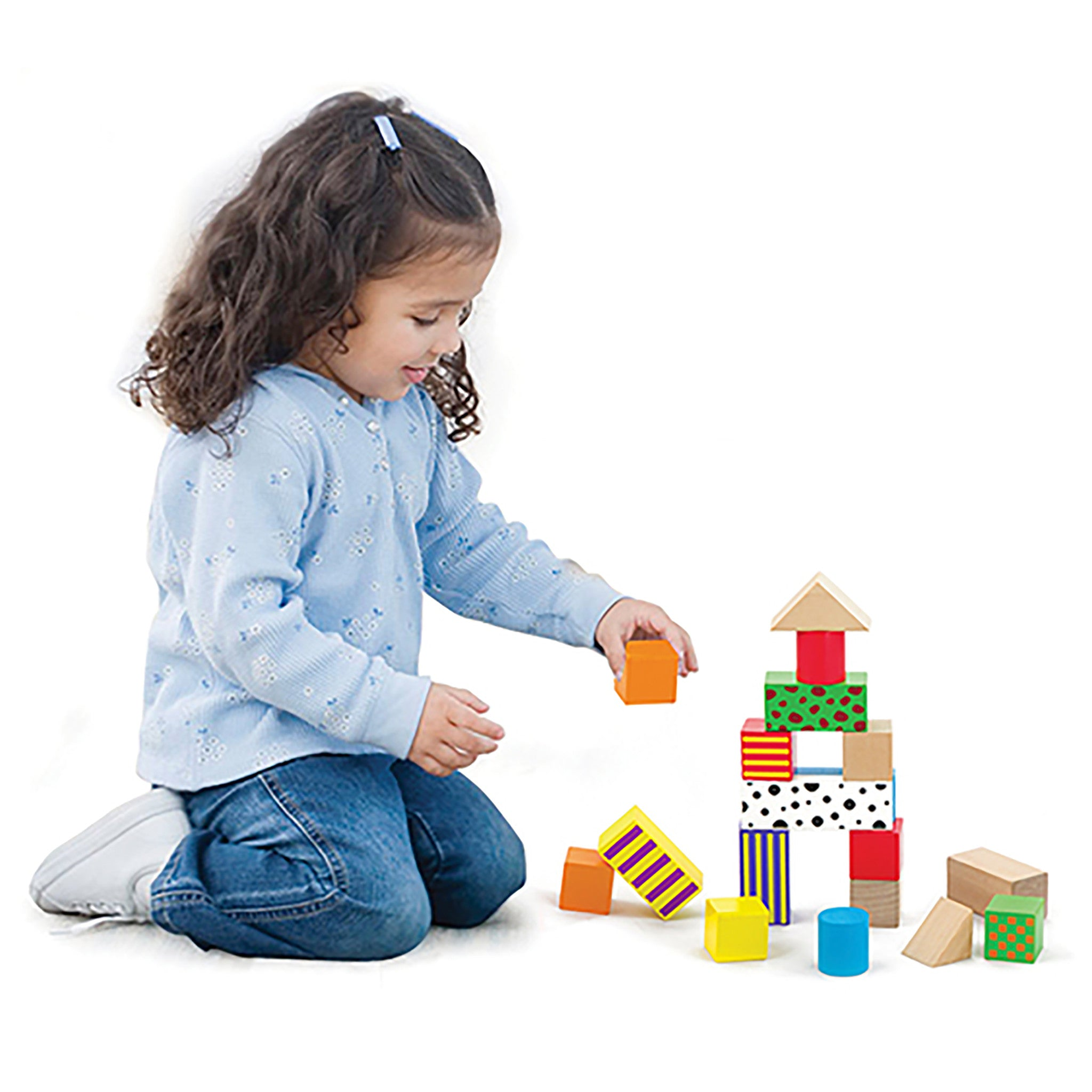 Colorful Patterned and Solid Wooden Building Blocks – The Getty Store