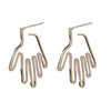 Hand Outline Post Earrings