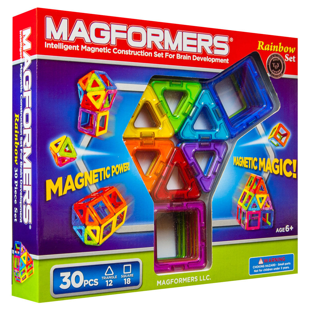Magformers Magnetic Building Set- 30 Pieces | Getty Store