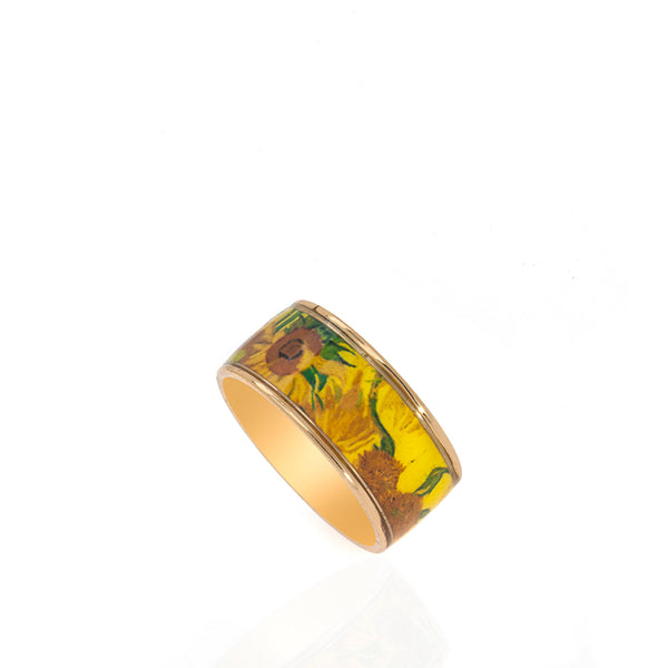Van Gogh Sunflowers Ring
