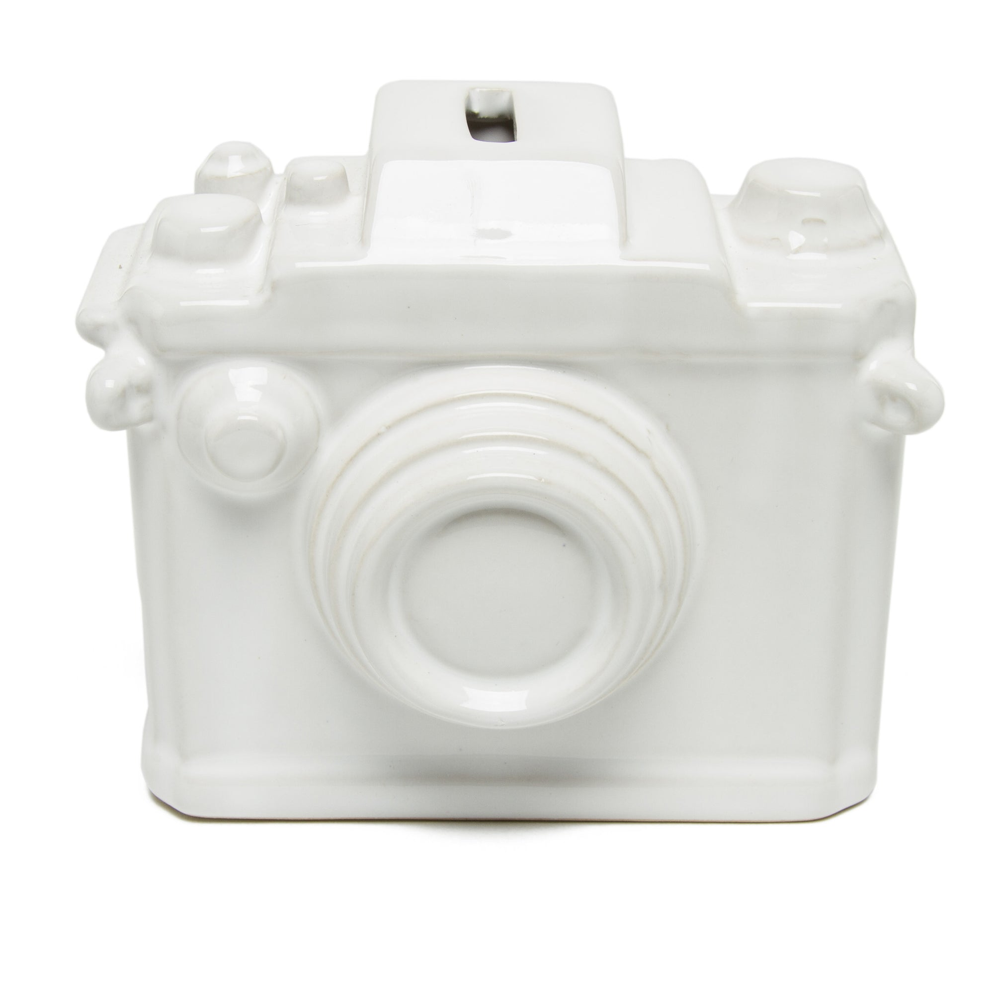 Ceramic Camera Bank - White