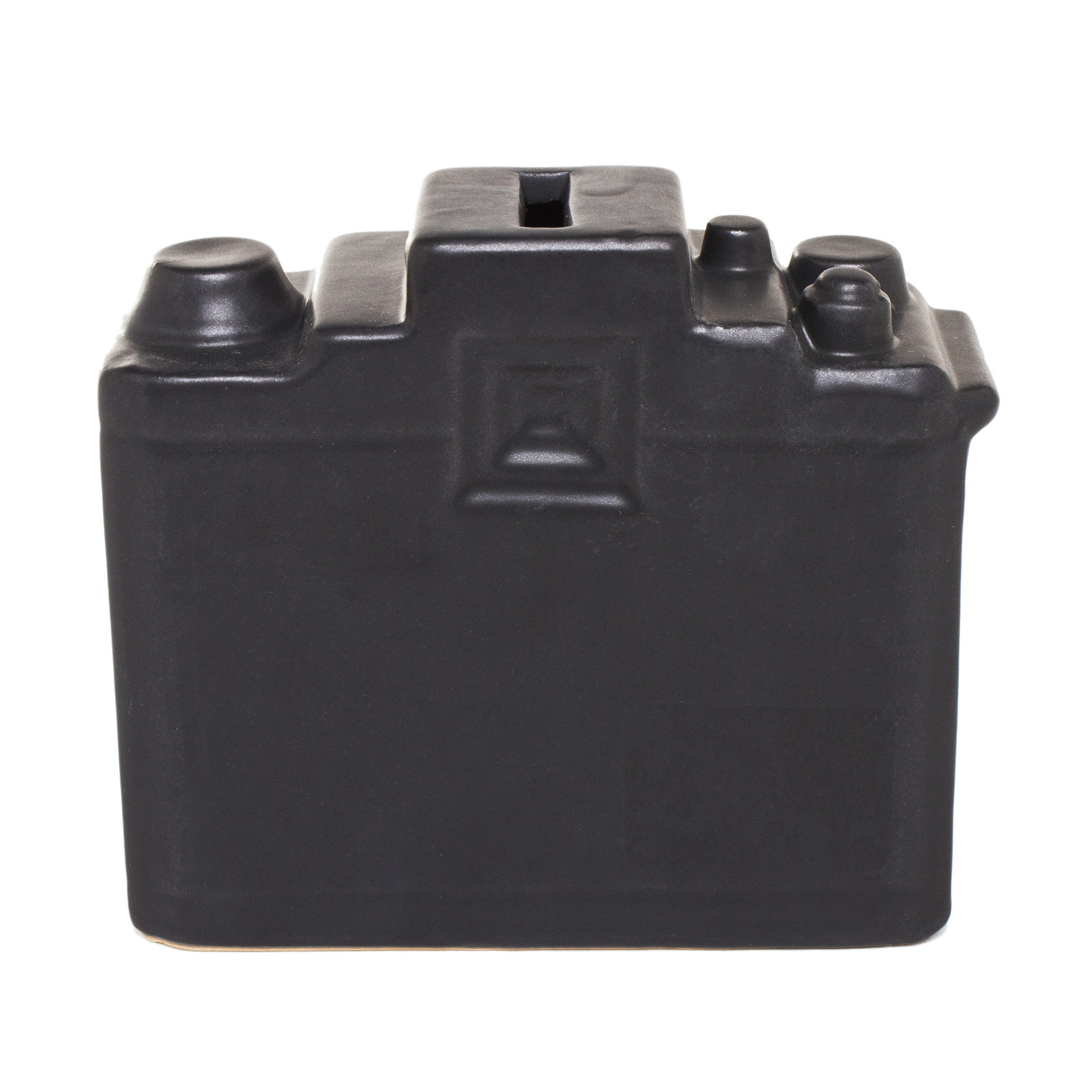 Ceramic Camera Bank- Black | Getty Store