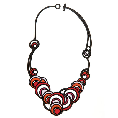 Colorful Rubber Circles Necklace