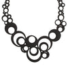 Black Rubber Circles Necklace