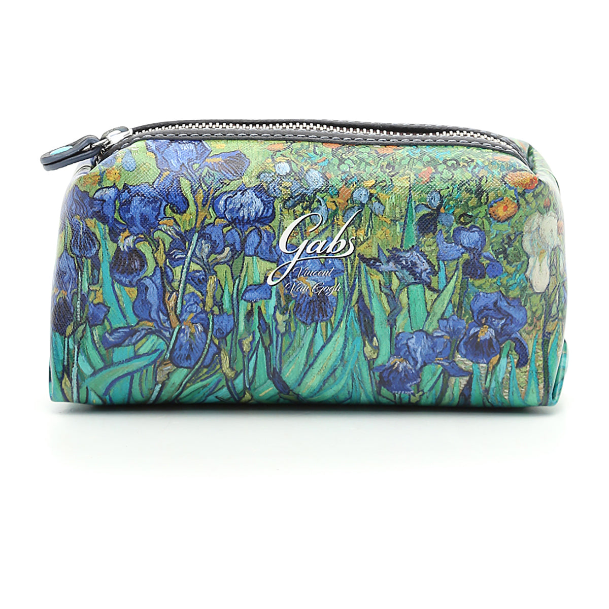 Cosmetics Bag featuring Van Gogh's Irises, by Gabs, Italy-Front View | Getty Store