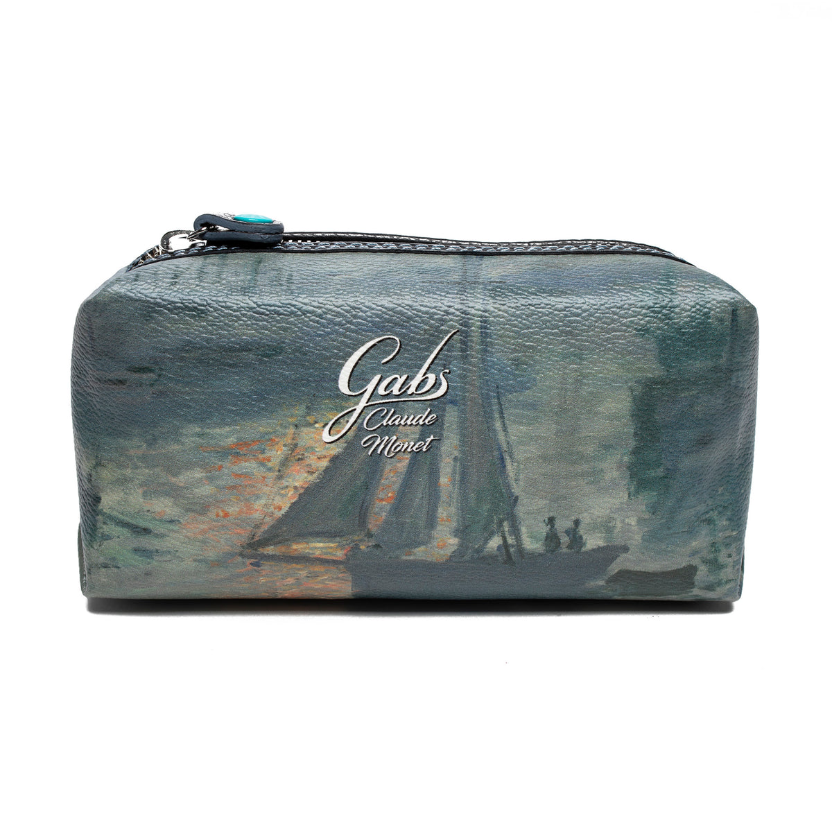 Cosmetics Bag featuring Monet's Sunrise (Marine) by Gabs, Italy