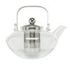 Glass Teapot with Stainless Steel Infuser Lid and Detachable Handle