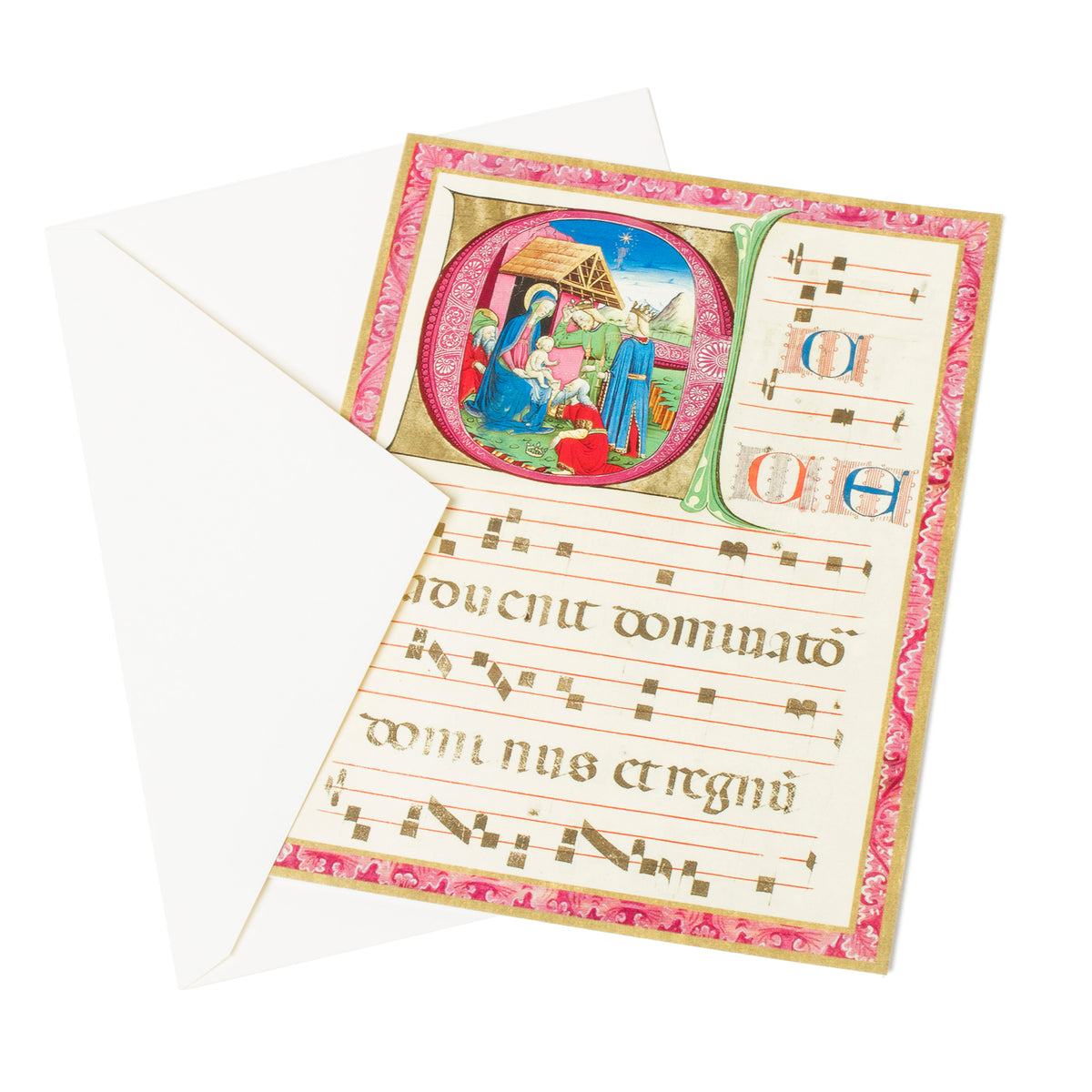 Getty Large Boxed Christmas Cards-The Adoration of the Magi-View of card with envelope | Getty Store